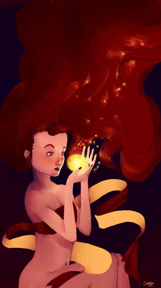 Red Lady - Una luz en el espacio by GabbaAlche