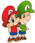 Brothers: Mario and Luigi
