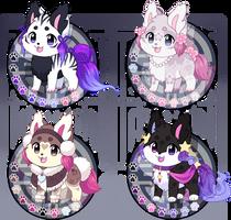 (SOLD!) Kitsunet Adoptables Flatsale! by Miizue