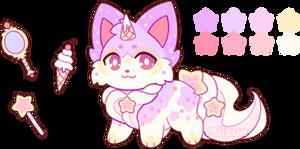 (SOLD) Magical Ice Cream Fox!
