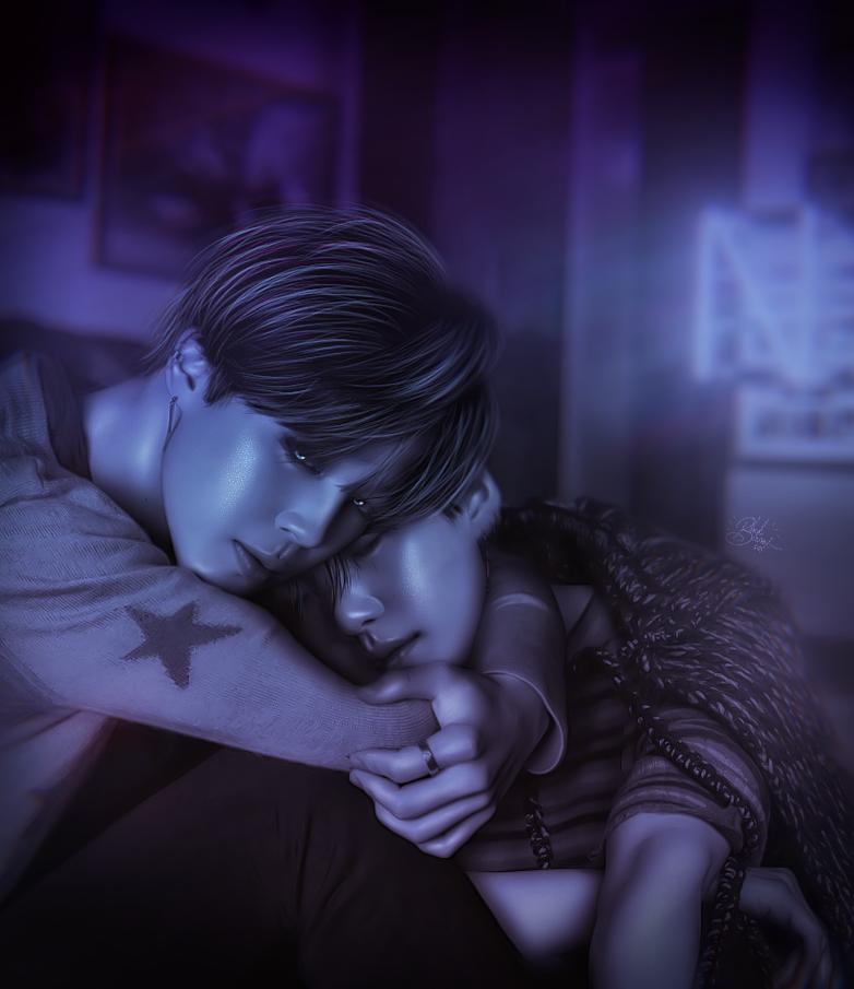 Yoongi, Jimin / BTS / [Sleep sugar] by Blackironcat on