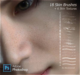 Skin brushes + textures by Blackironcat (Photoshop by Blackironcat