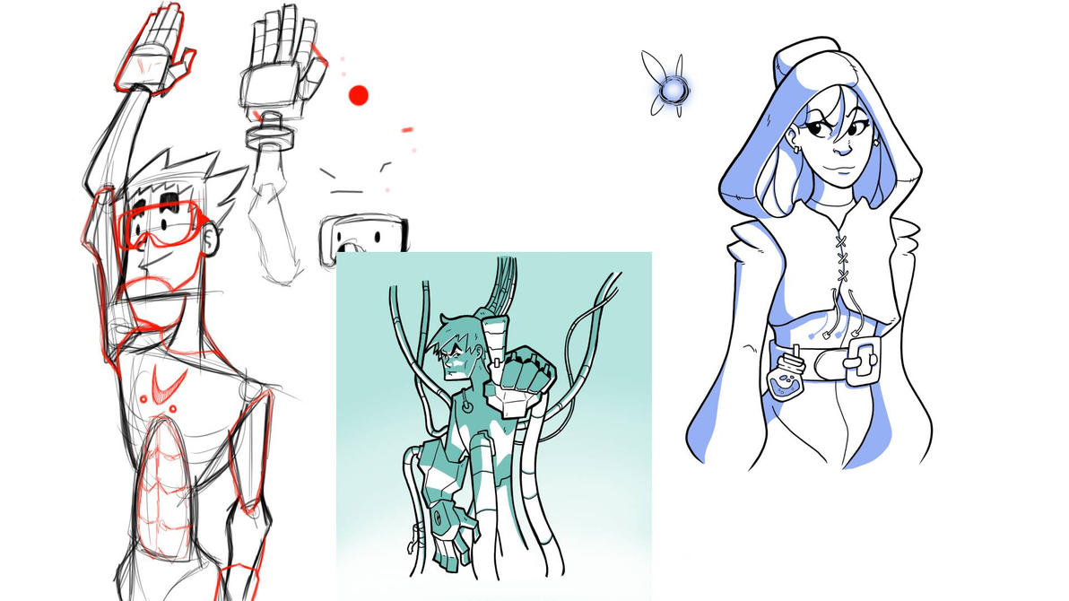 Sketch Dump 2 by MangaMaster2