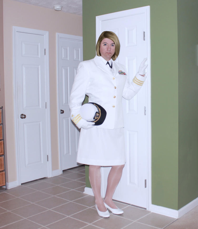 Me in US Navy Dress Whites by juliegrey2001 on DeviantArt