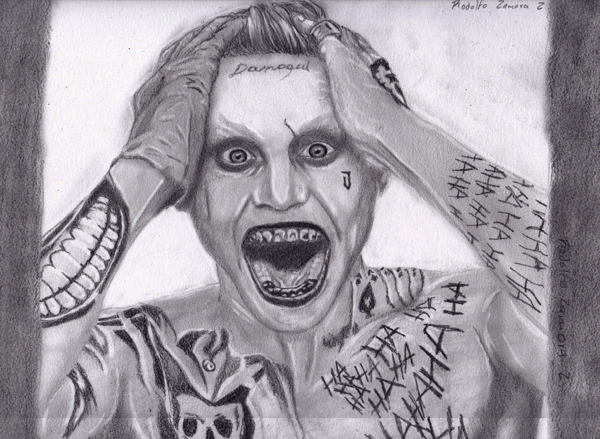 Joker jared leto pencil drawing by rodolvip