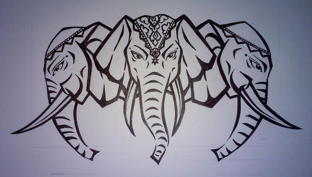 10 ink link tattoo laos three headed elephant by katze1075 on deviantart anubis tattoos. Black Bedroom Furniture Sets. Home Design Ideas