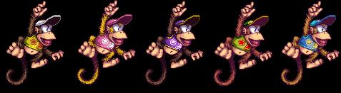 Brawl - Diddy Kong Alternates by KazarSanaga
