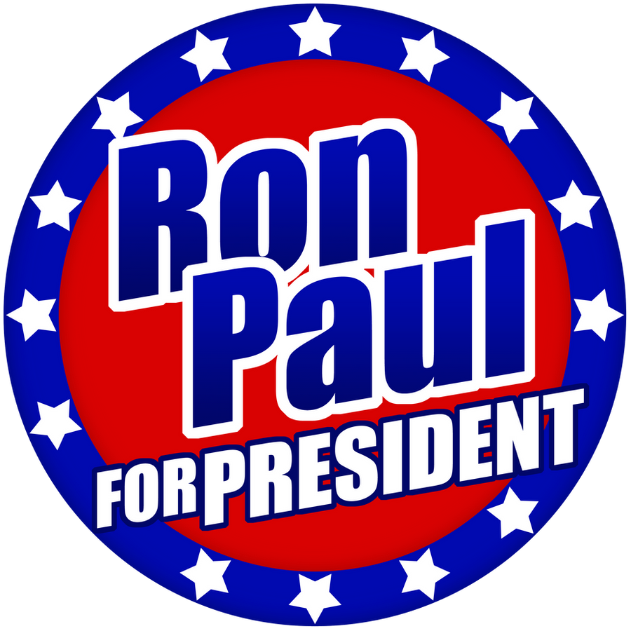 Ron Paul 2012 Flag Button by RonPaulDesigns