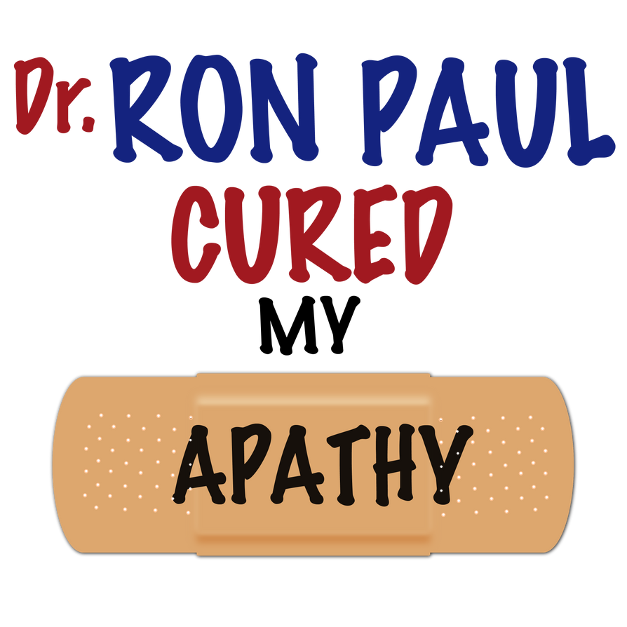 The Apathy Cure Shirt Design by RonPaulDesigns