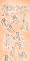 The Hobbit Sketches by Tsenny