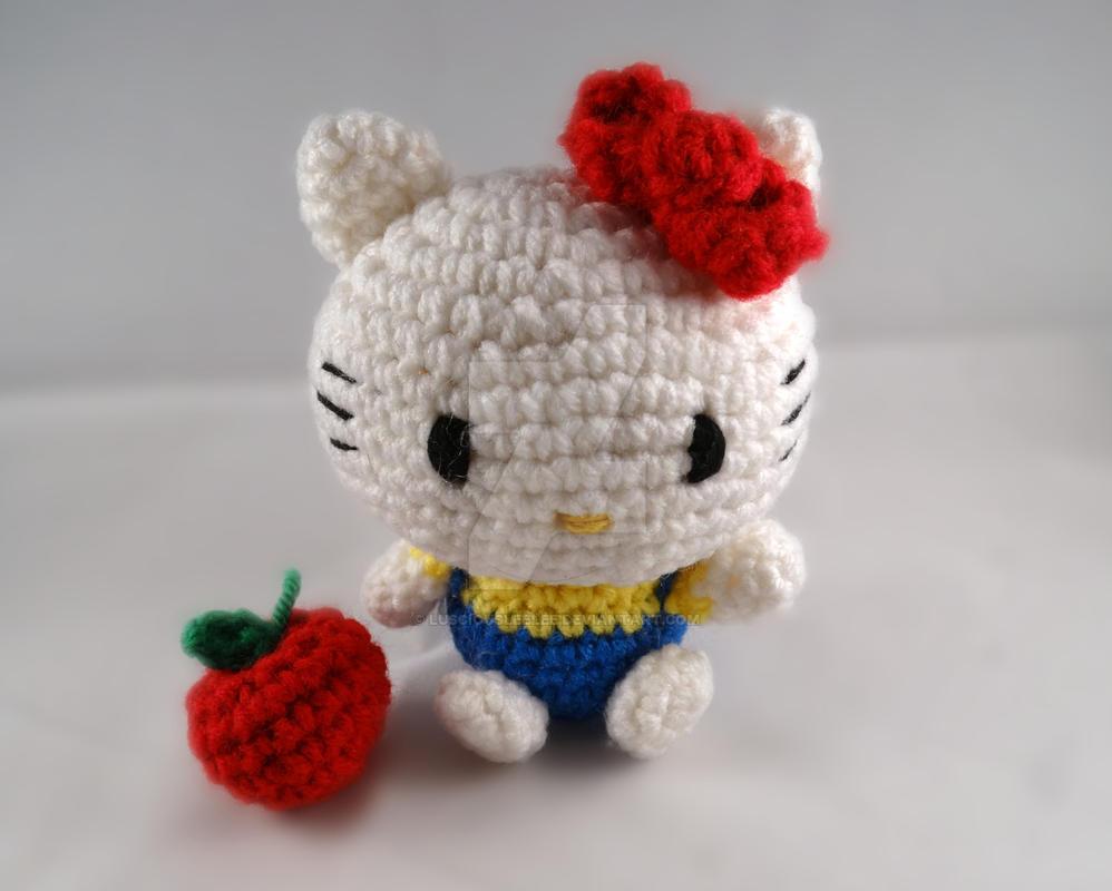 Crochet Doll Hat Pattern Free : Hello Kitty amigurumi by lusciousleelee on DeviantArt