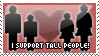 I support tall people stamp by Sky-X