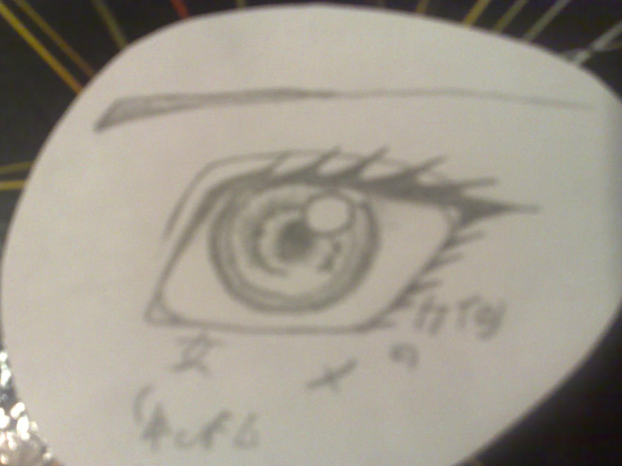 Anime Eye Drawing in Pencil Anime Eye Drawing by