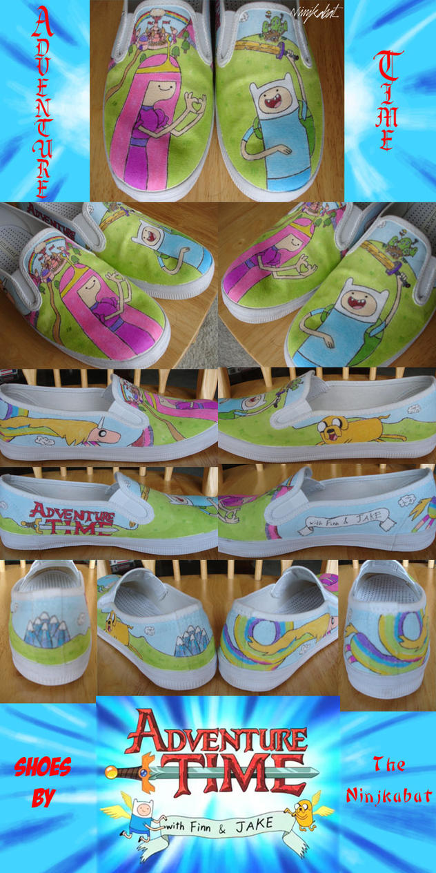 Adventure Time Shoes by ninjkabat