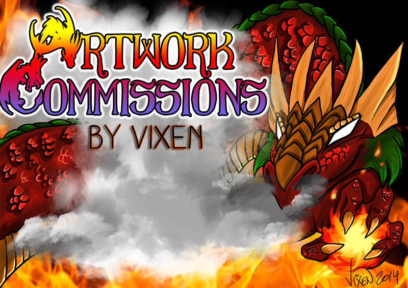Artwork Commission Sign 2015 Preview by Vixen8387