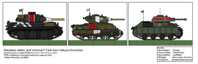 Nameless, Hafen, and Workman Tank