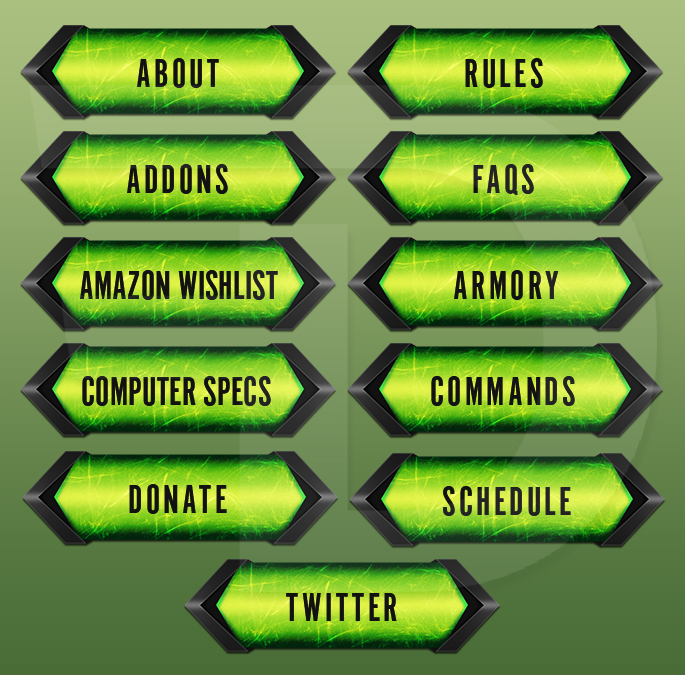 How to add links in twitch panels