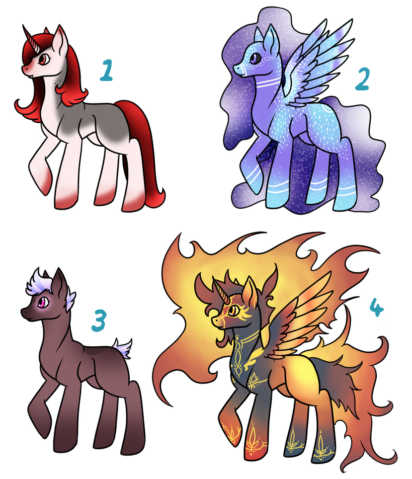 Mixed Pony Adopt Sheet 3/4 -={OPEN}=- by shadow21812