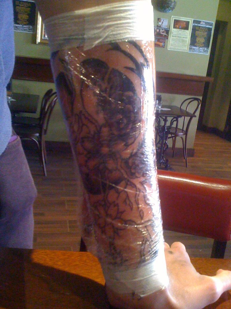 Tattoo arm piece by CherryRedDead