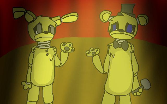 Springtrap and golden freddy by deadloxhugs on deviantart
