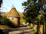 Oast House in an Englsish Country Lane