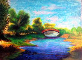 Bridge at Goddistones Shoreham by John-Baroque by John-Baroque