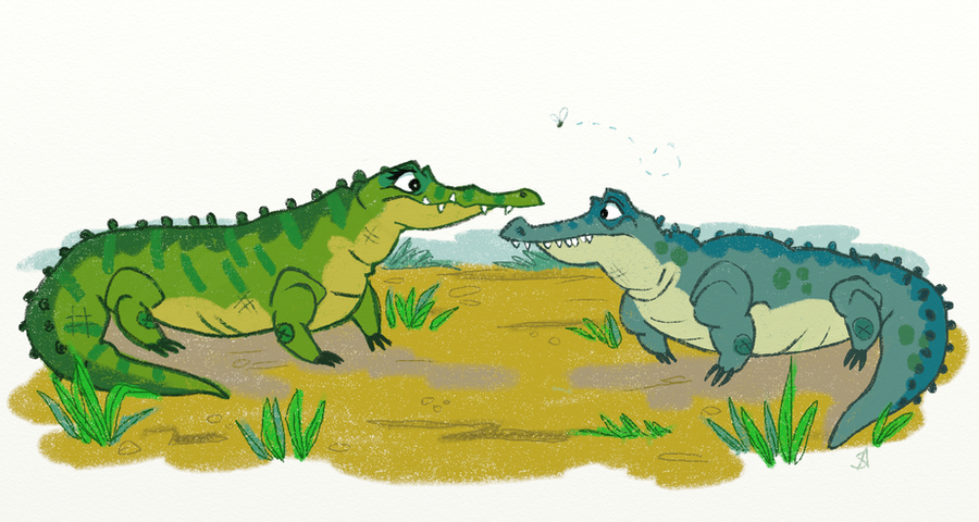 | Crocodile and Alligator Difference by Shianna-Art