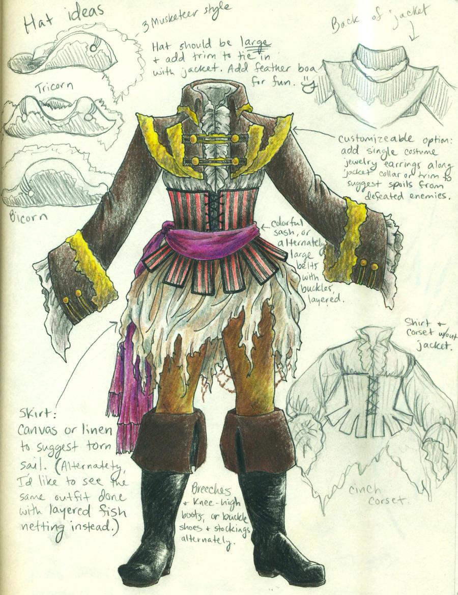 Pirate Costume Design By Thebrassglass On Deviantart