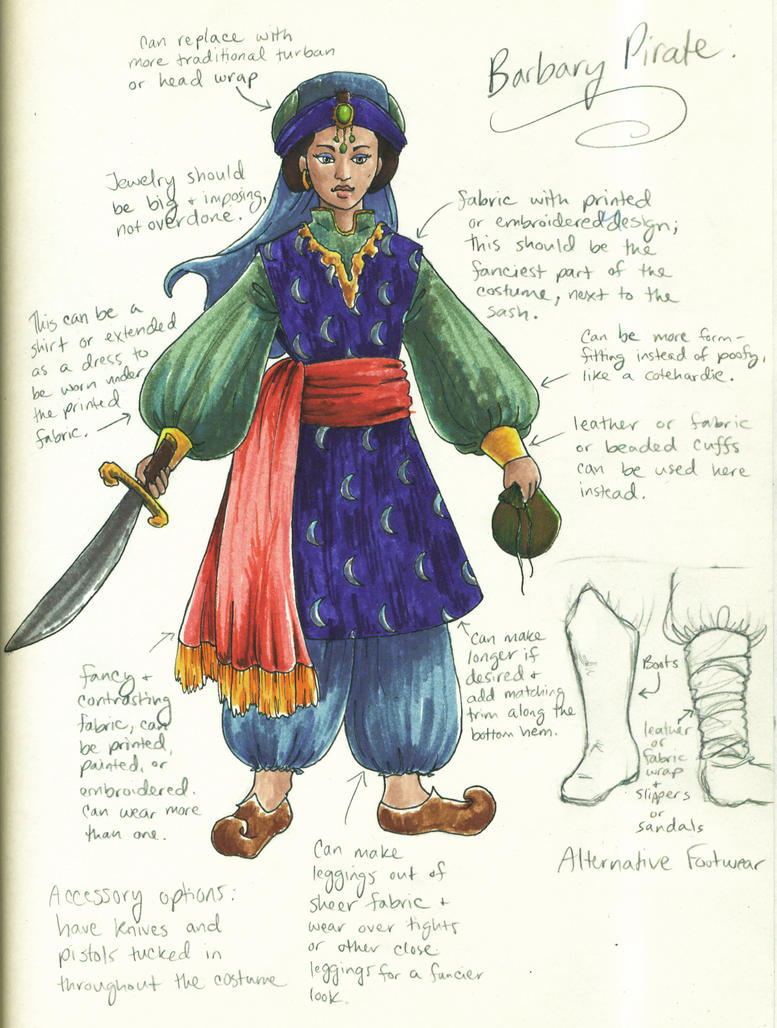 Barbary Pirate Design by TheBrassGlass ...  sc 1 st  DeviantArt : used pirate costumes  - Germanpascual.Com