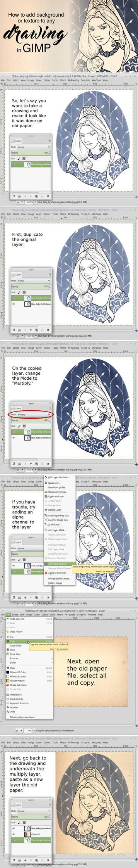 GIMP background tutorial
