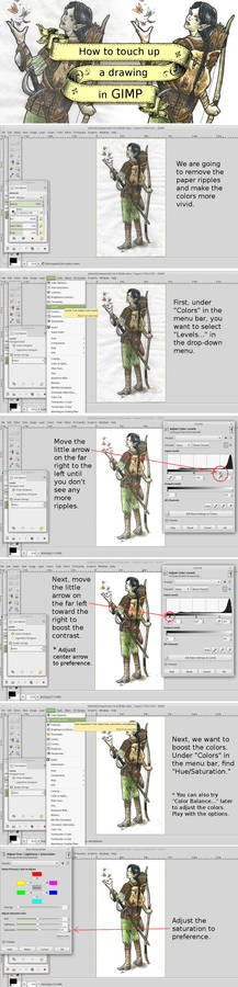 How to touch up a drawing in GIMP