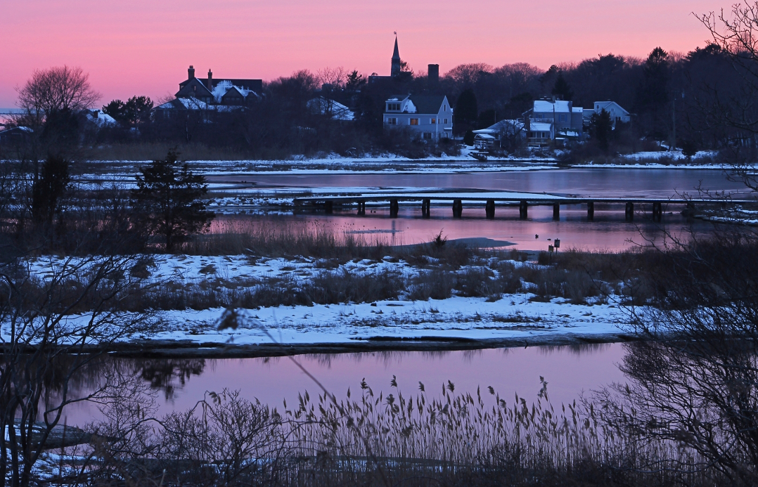 A winter sunset in New England