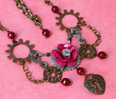 Steampunk Rose necklace