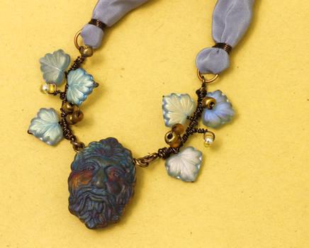 Violet (Green) Man necklace