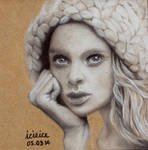 Holly Rose Emery Pastel Pencil Drawing