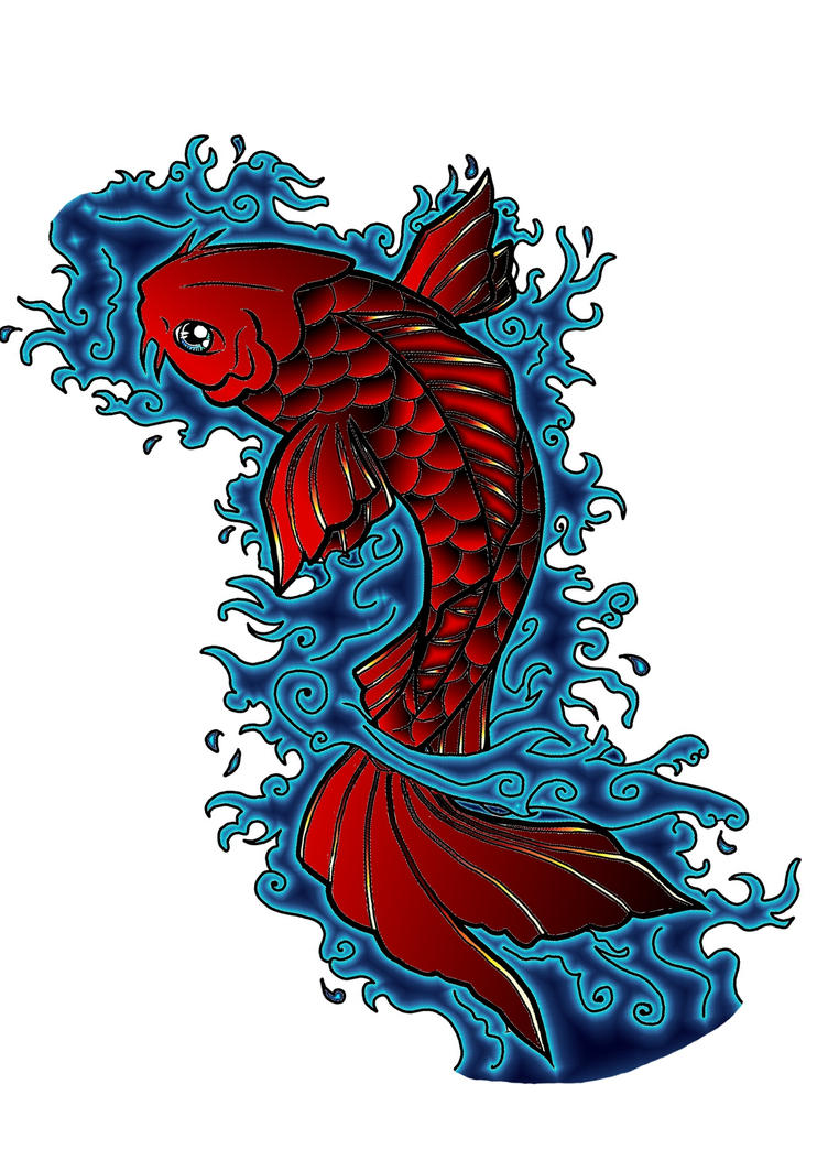 Red Koi Fish by Silmegil on DeviantArt