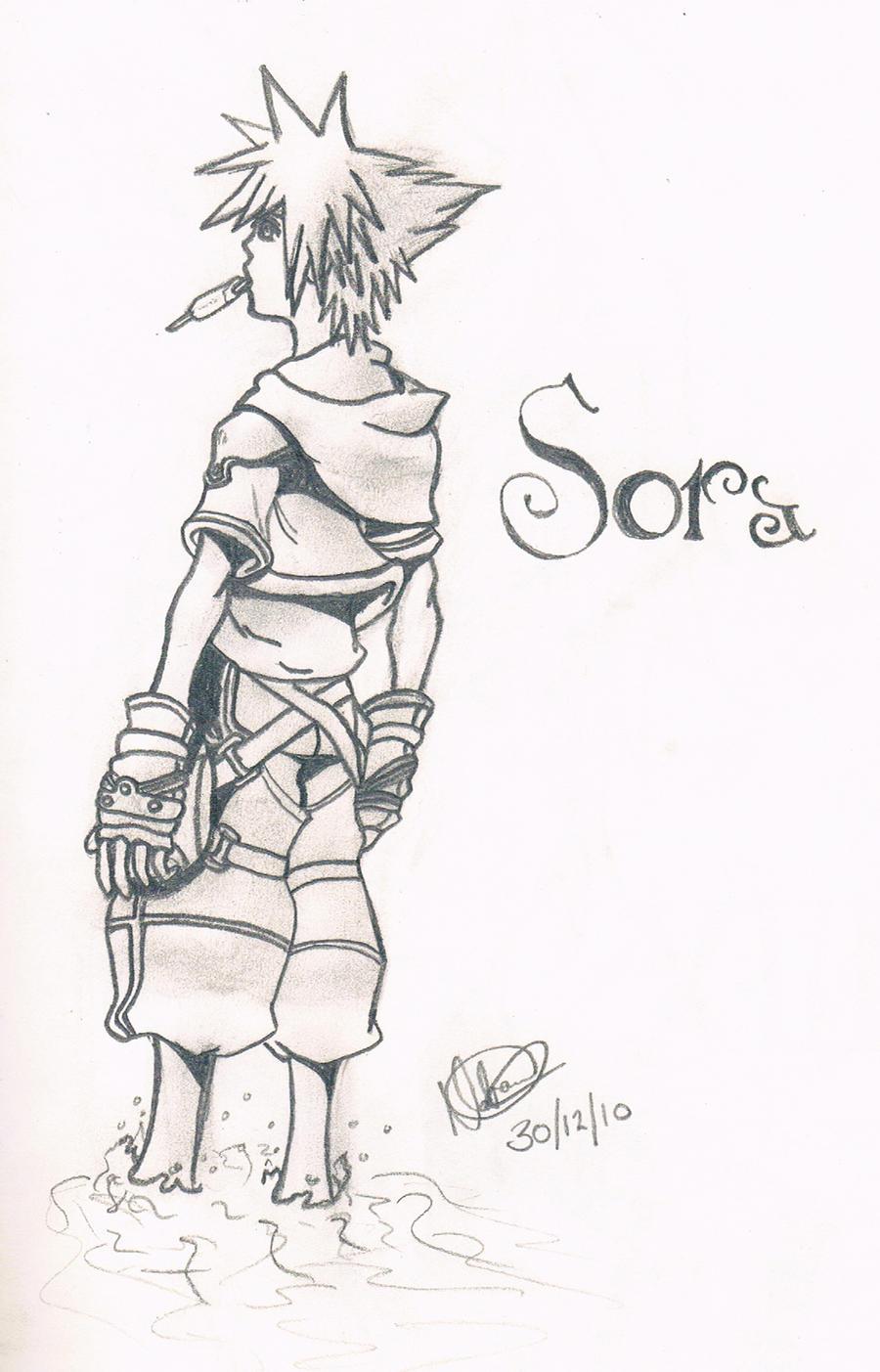 Sora - menu kh2 by Natini