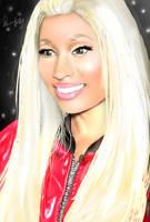 Nicki Minaj in the UK (Red Jacket outfit) by Ddog04