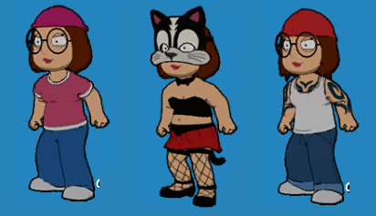 3 costumes of Meg by stumanbud