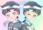 Seiya + Star Fighter Chibi Faces by Jolin-chan by Jolin-chan
