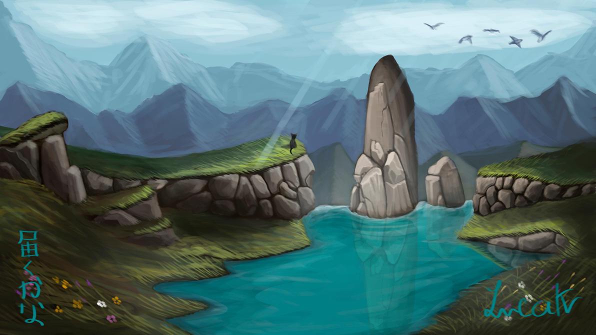Waterfall environment by lucak desu on deviantart for Waterfall environment