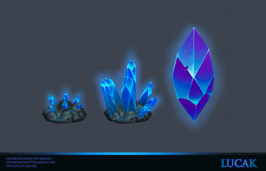 Hand painted crystals by lucak-desu