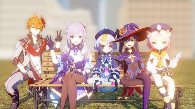 MMD The New Characters Genshin Impact