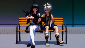 MMD Yo, Moe School Girls JK.