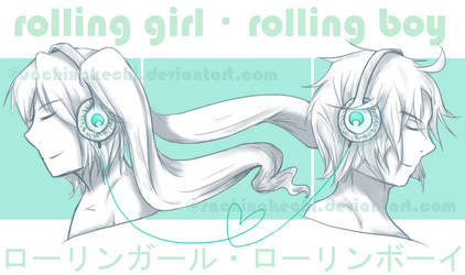 rolling girl rolling boy by sachixakechi