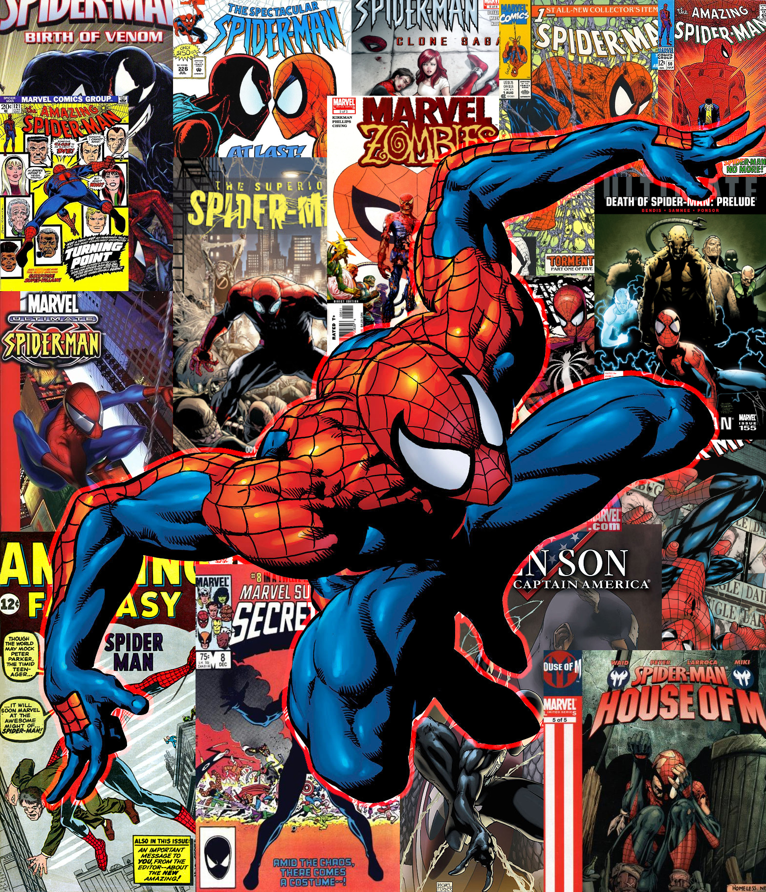 Comic Book Cover Art : Spider man comicbook cover collection wallpaper by