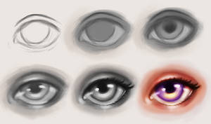 Semi-Realistic Eye Tutorial by Isako23