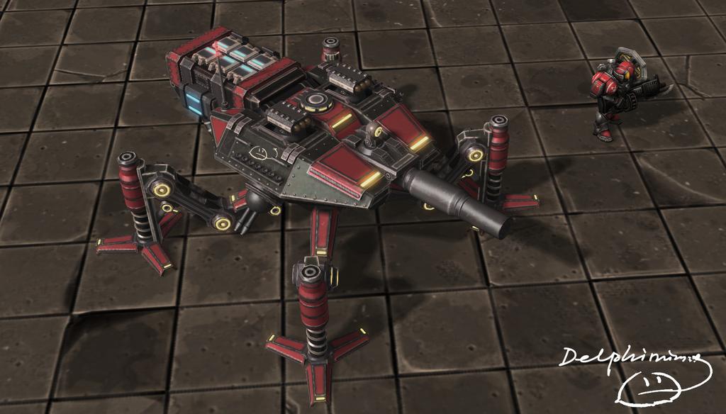 Spider vehicle final version. by DelphiniumKey