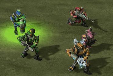 Robot marine units by DelphiniumKey