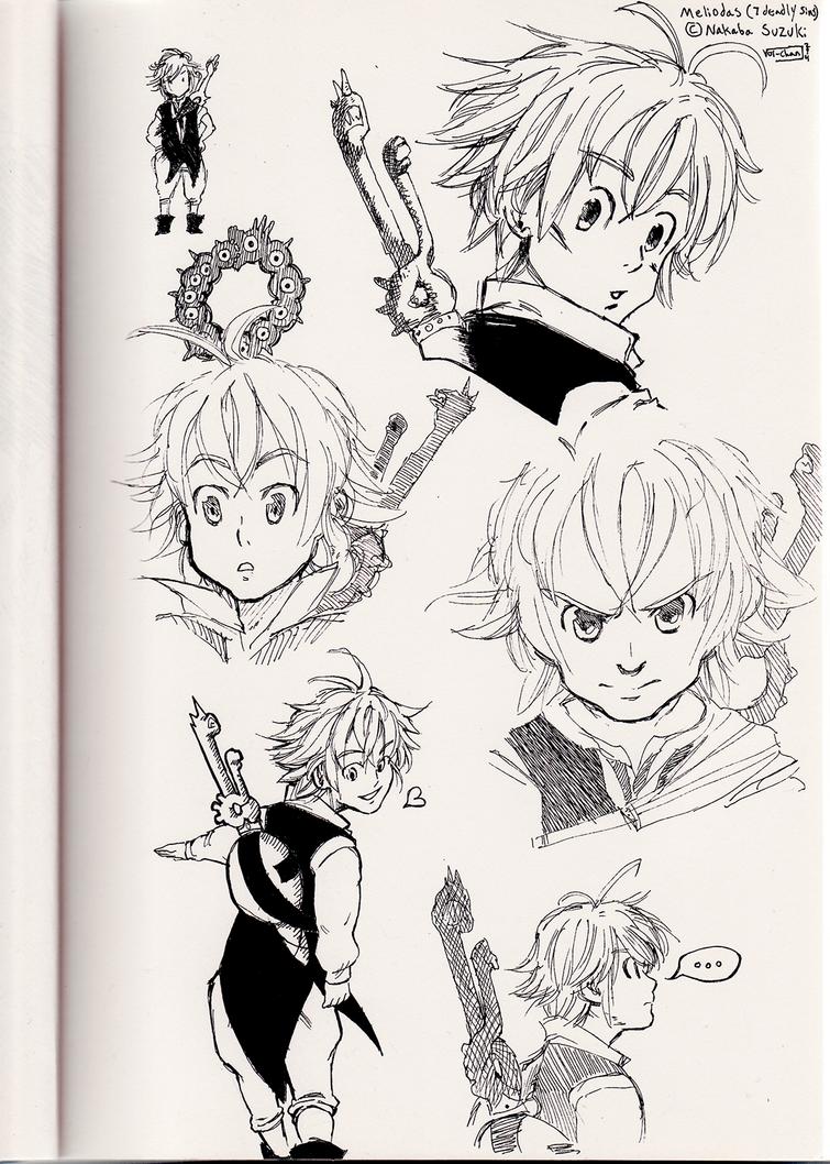 Meliodas Sketches by Vol-chan
